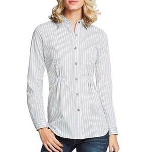 CAbi Stripe Shirt Style #974 Button-down Top S